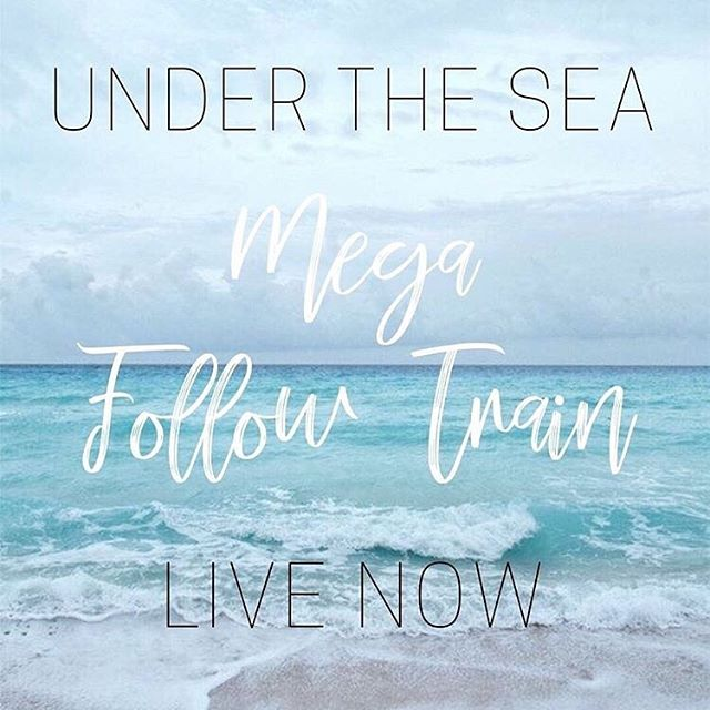"🐳 LIVE MEGA FOLLOW TRAIN!🐳 Come join the fun & meet some awesome new people! 8 TOTAL LOOPS in this MEGA LOOP! 🙌🏻 • Head over to @instafametribe • Look for the instructions on their most recent post ""MEGA FOLLOW TRAIN"" to join in on the loop & Happy Looping! . #undertheseatrain #instafametribe"