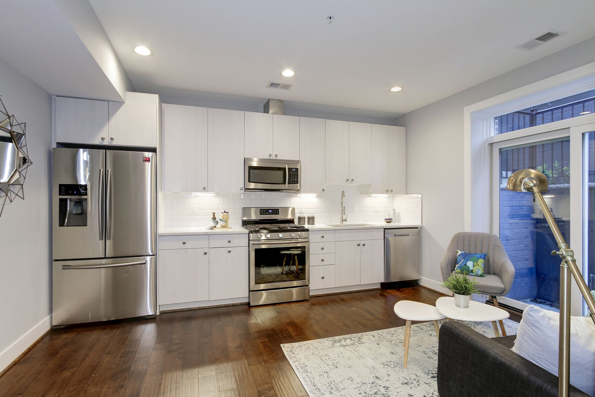 Living Area + Kitchen (Unit #1)