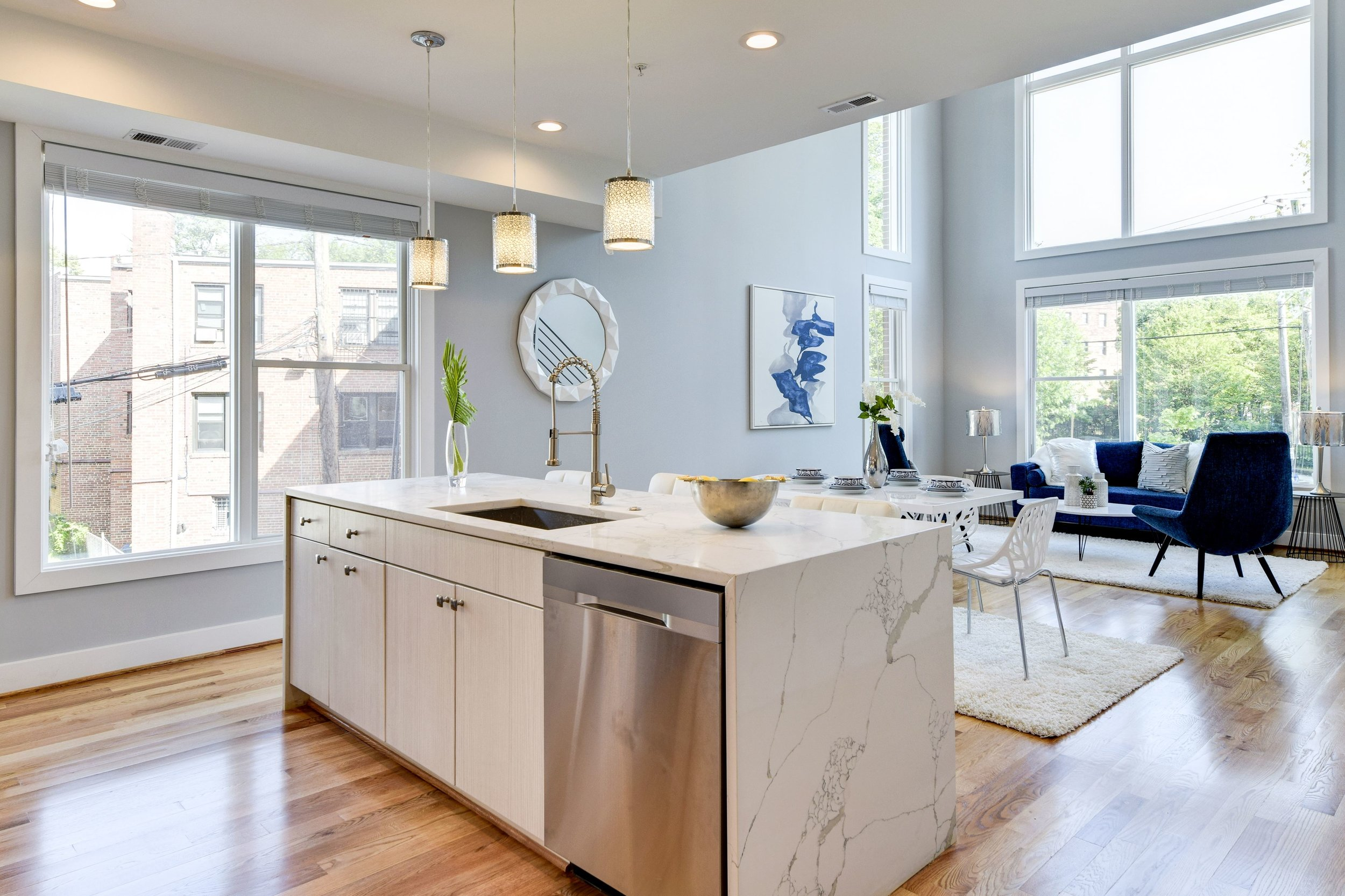 Kitchen + Living Room (Unit #21)