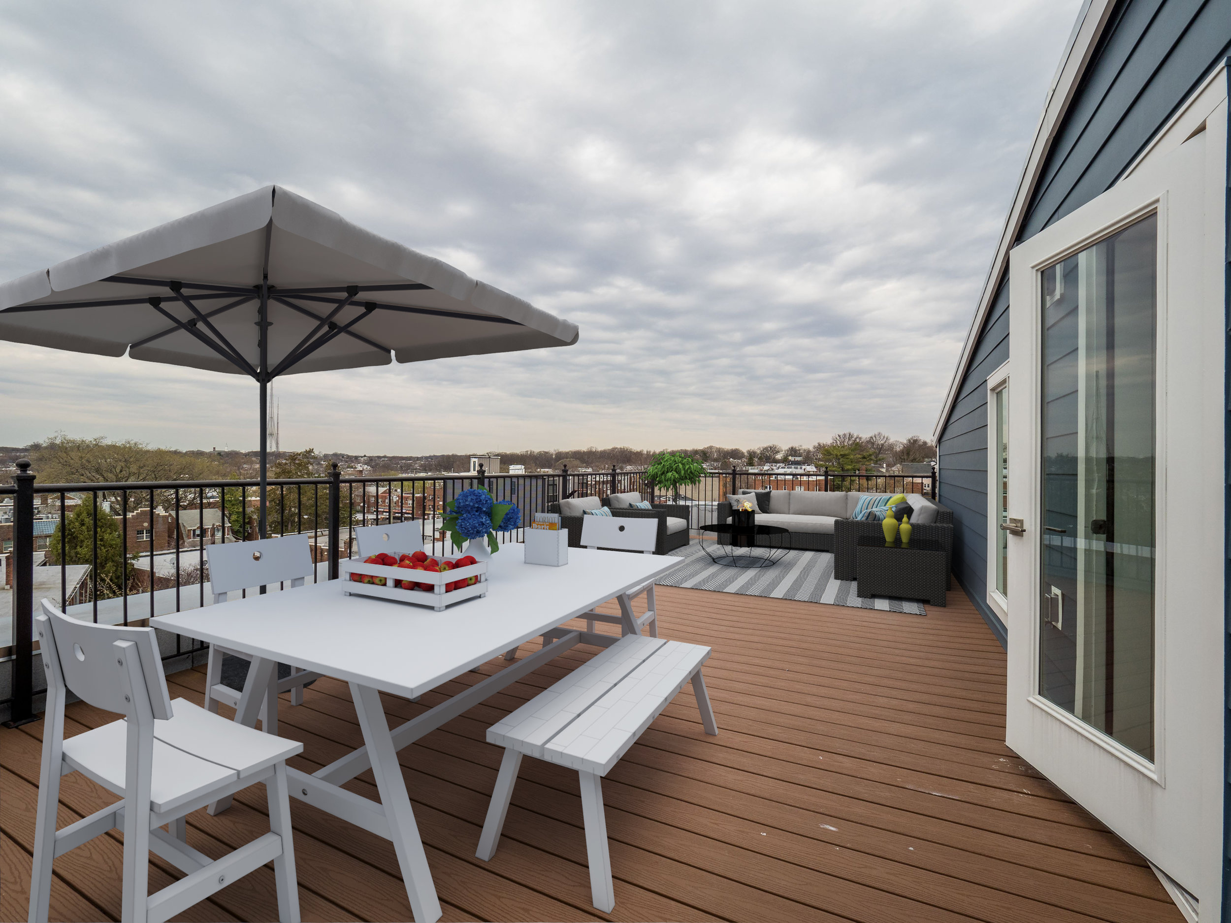 View from rooftop deck (Unit #21)
