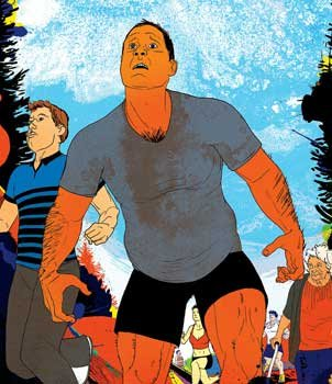 Outside magazine  Trail Hog: An overweight ex-drunk decides to crash-train for a 16-mile race up and down a mountain. Hey, what could go wrong?