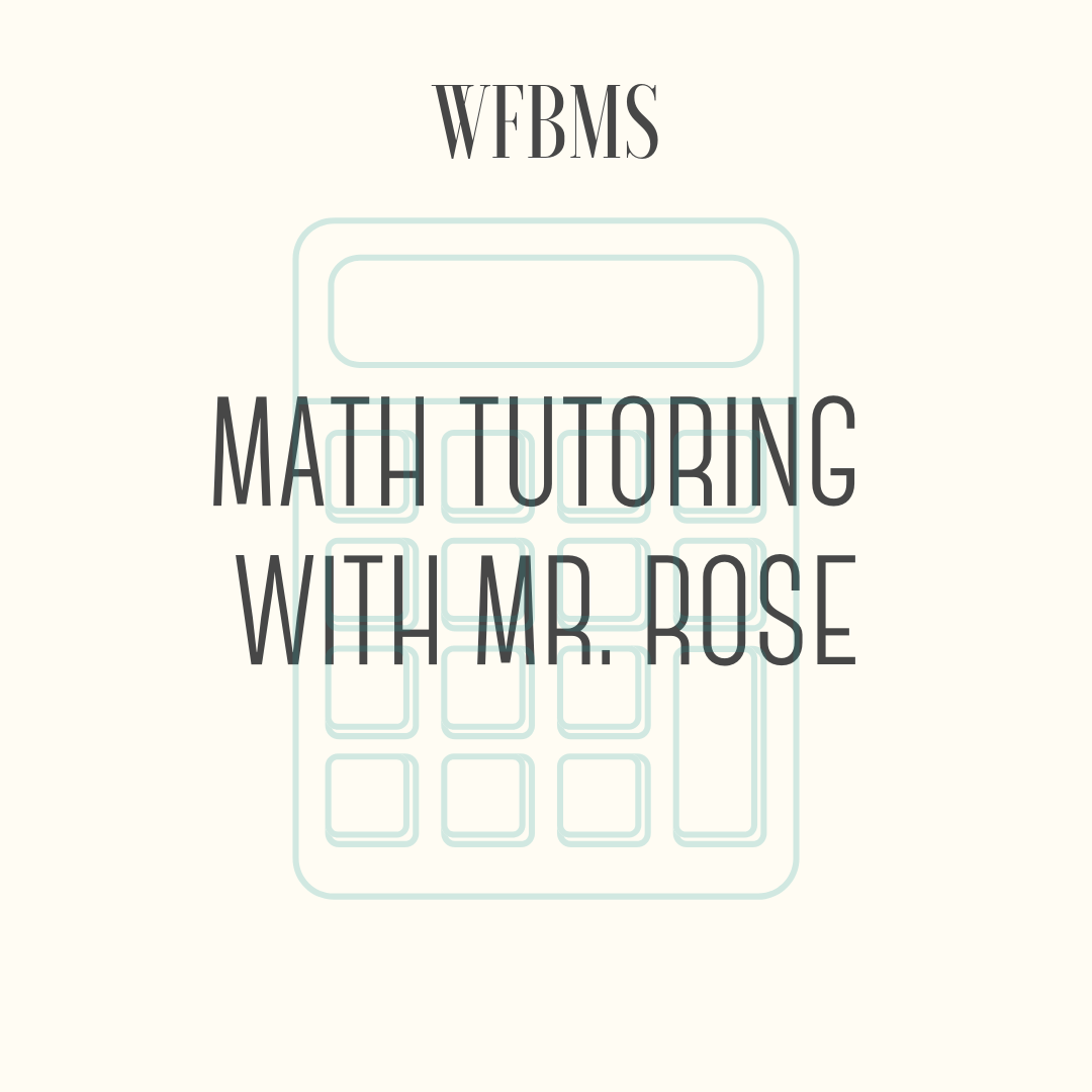 Math Tutoring with Mr. Rose - Five hours (five one hour sessions) of math tutoring during the summer of 2019. Help your child get ready for next year's math class or brush up on ACT practice in the area of mathematics. Tutoring will take place at the WFB Library at agreed upon dates and times.Includes a diagnostic test that will be completed ahead of time (online) that will be used to assess student strengths and areas of need.Mr. Rose is a licensed high school math teacher with 17 years of teaching experience, and five years as an owner/operator of a math tutoring business in Cedarburg.