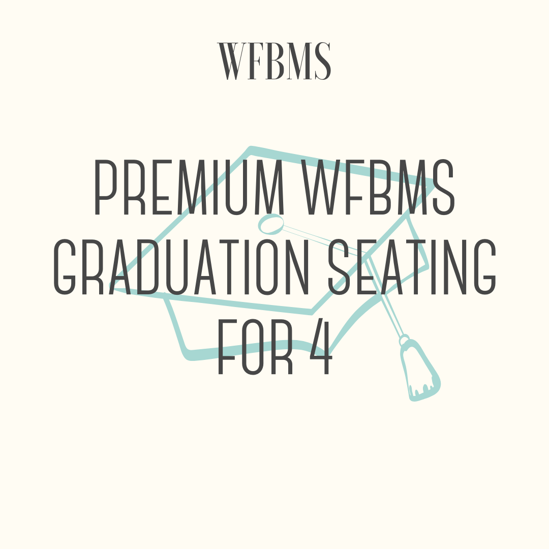 Preferred Seating for 4 for 8th Grade Commencement Ceremony - Preferred seating for 4 for the upcoming 8th Grade Commencement Ceremony. 2 sets of 4 tickets available. Winner(s) should contact Mike O'Connor or Matt Rose to redeem the seats.