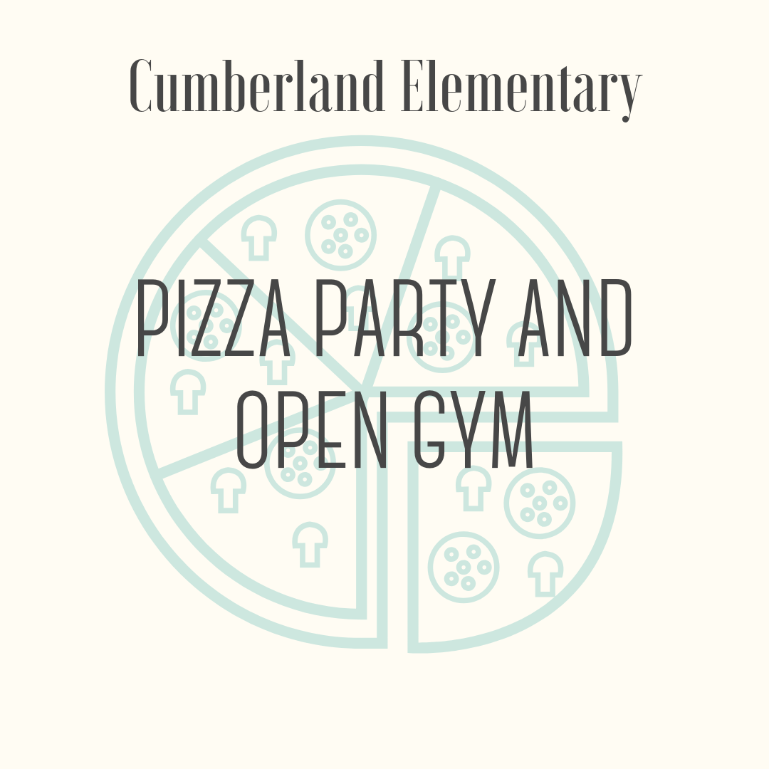 Pizza Party and Open Gym with the Cumberland Encore Teachers - One student and 5 friends for a pizza party lunch (pizza, drinks, dessert) and recess in the gym with the Encore teachers: Mr. Morrill and Mr. Peterson (PE), Ms. Collins and Ms. Beck (Art), Ms. Cruz and Ms. Bergeron (Music), Ms. Fenske (Spanish) and Ms. Mallmann (Library).Expiration: Last day of school 2019Number of participants: One winner plus five friendsDate: To be arranged with winner and Encore teachers