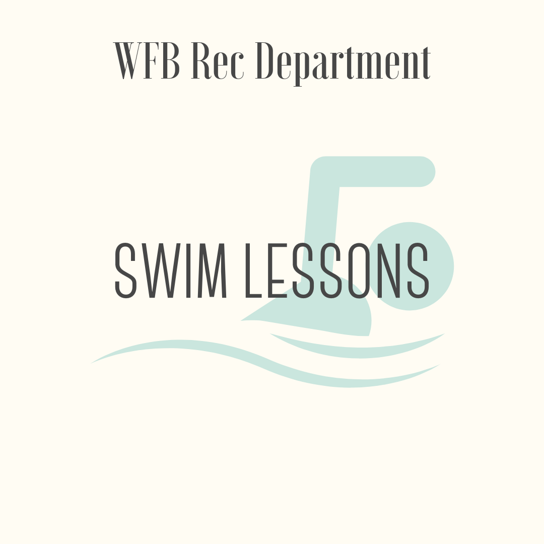Rec Department Swim Lessons - 1 session of summer swim lessons. Transferable to Fall 2019 if preferred summer session is not available.Expires 12/31/2019. Must register in person at the Lydell Rec Department. Limited to 1 child per household.