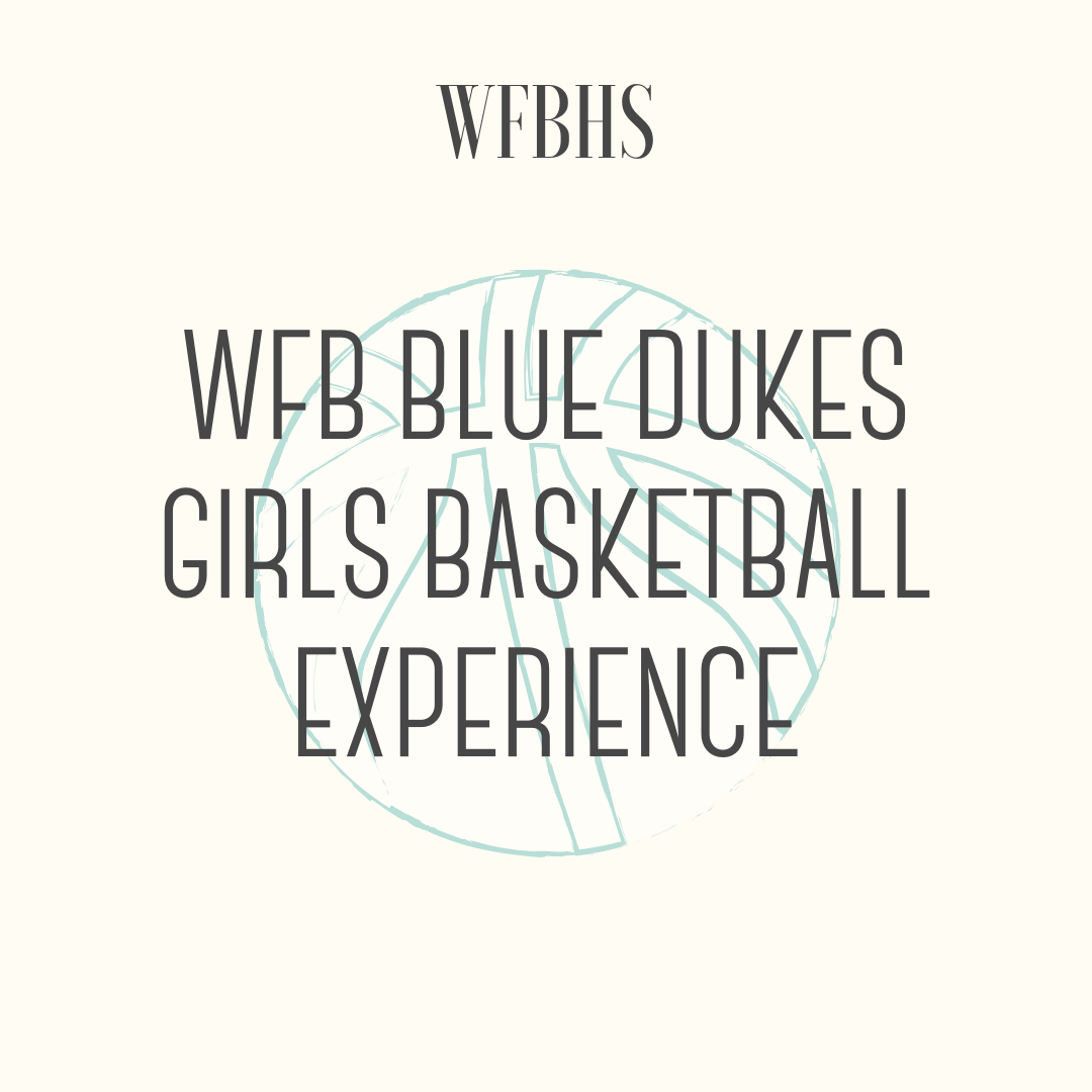 WFB Blue Dukes Girls Basketball Experience - Whitefish Bay Girls Basketball ExperienceWould include the following: A customized NFHS indoor game basketball, with the WFB logo engraved, 4 courtside bench seats to a WFB girls basketball game of your choice, VIP locker room access for pre and post game, will be the