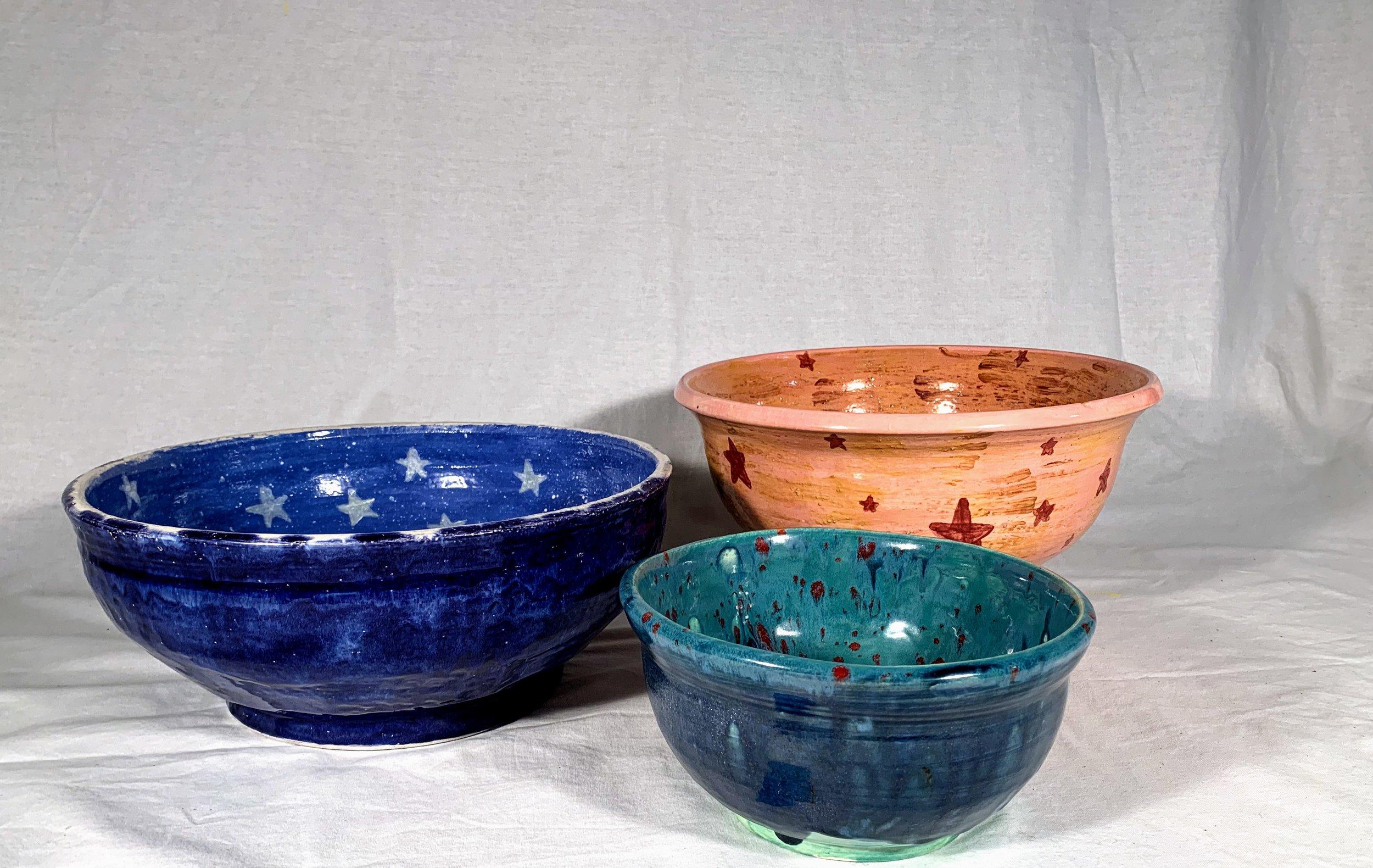 Moon and Stars Set of 3 Nesting Bowls