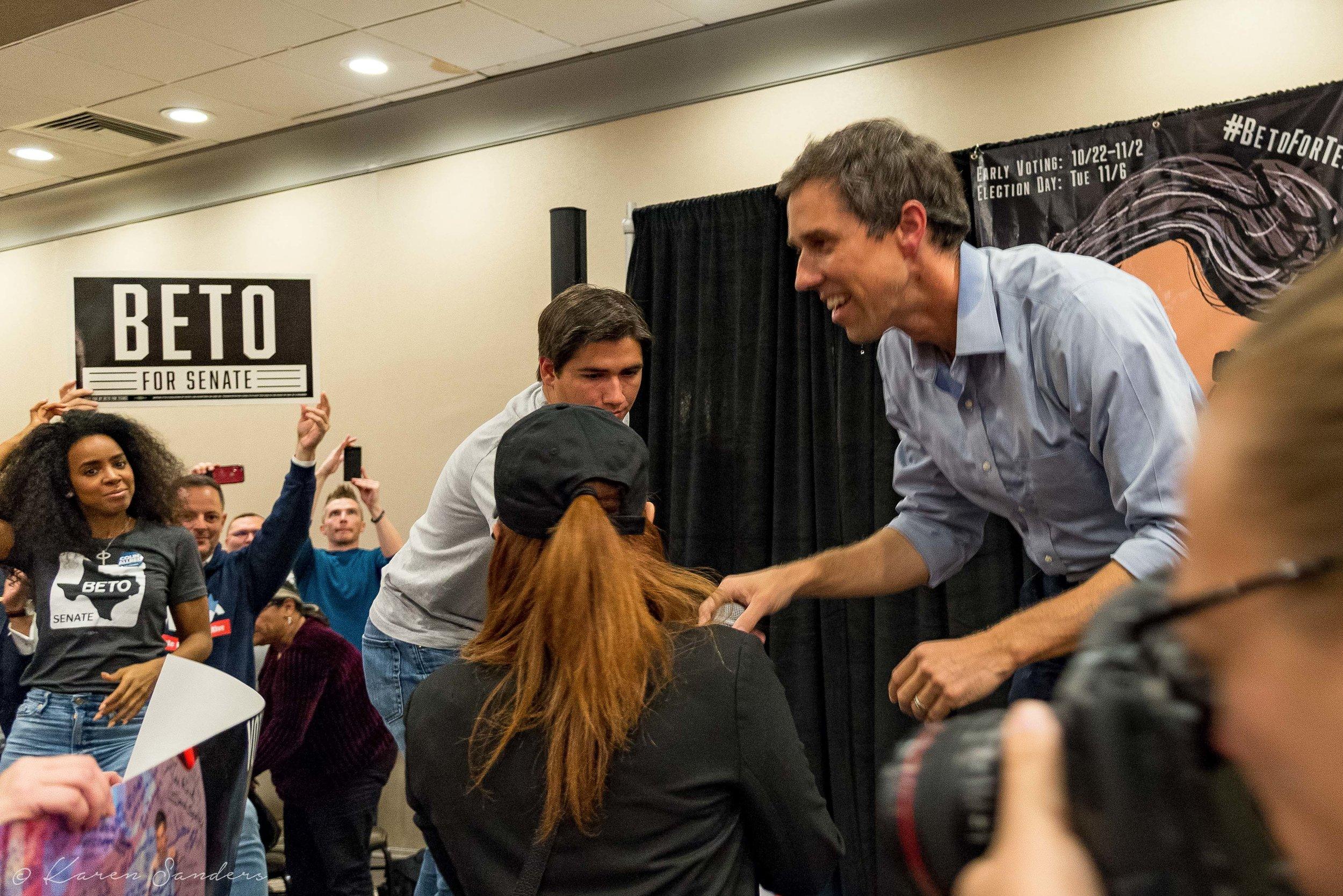 Beto O'Roark For Texas Political Rally