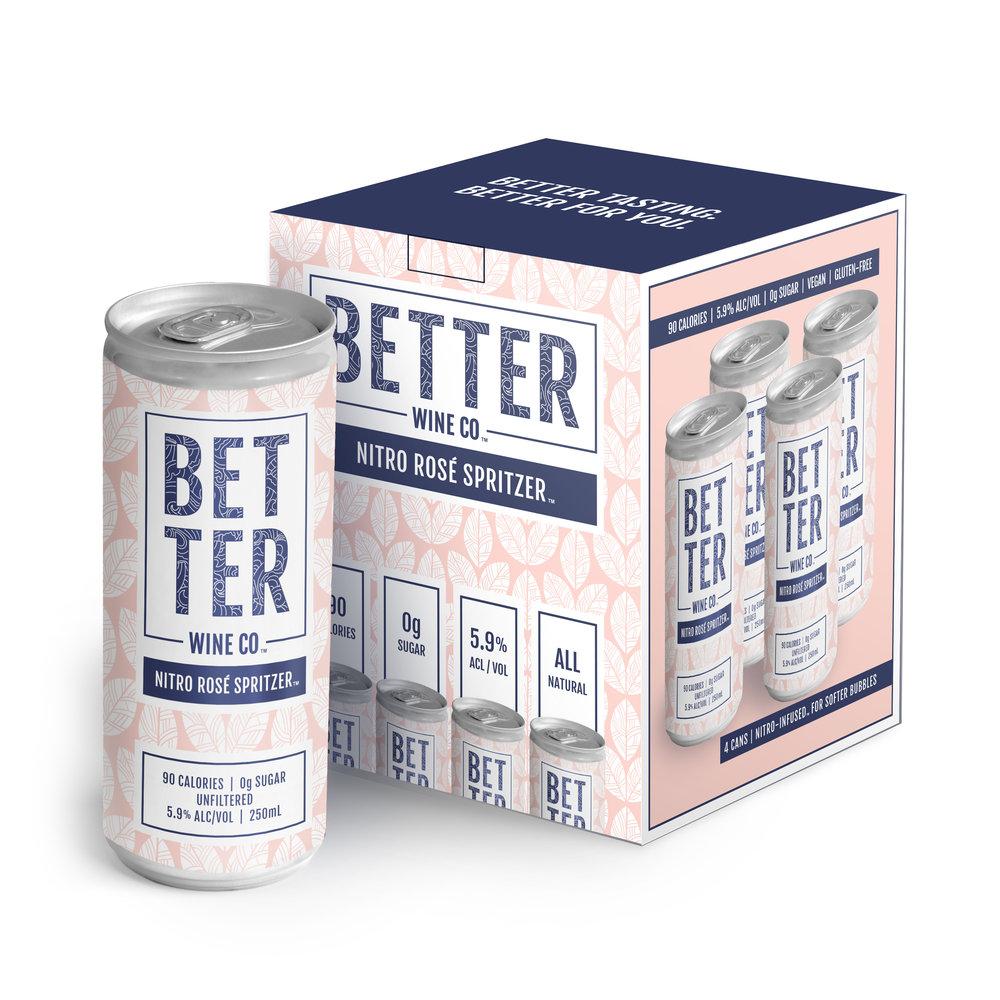 4 Boxes of Nitro Rosé Spritzer (16 cans)   59.00
