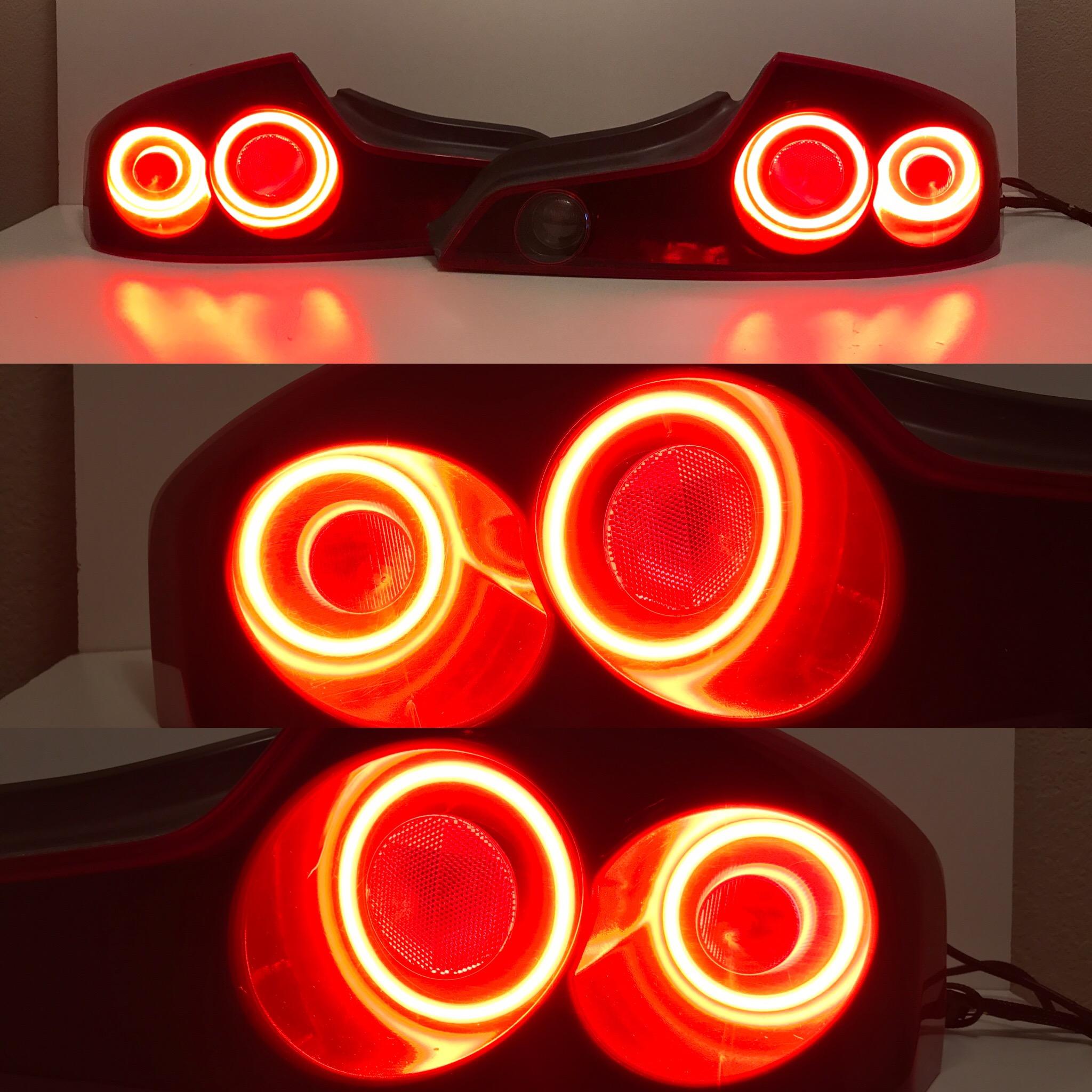 G35 Custom Taillights - Triple Function Taillight RingsIntegrated Running Light, Brake Light, Turn Signal