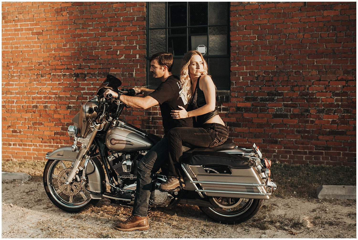 Cameron & Ashley Motorcycle Engagement Session Raleigh, NC.