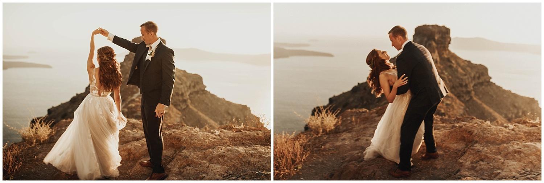 The Younts // Greece Elopement