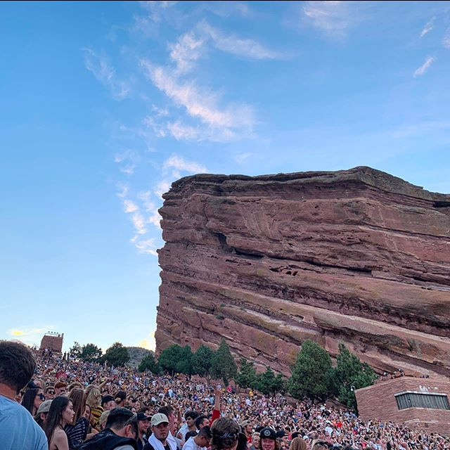 Couldn't be happier that my first ever concert at Red Rocks was to see @flume ! . . . @redrocksco #redrocksamphitheater #redrocks #redrocksco #flume #livemusic #music #concert #travel #landscapephotography #landscape #mountains #colorado #denver #denvercolorado #edm #nature #naturephotography
