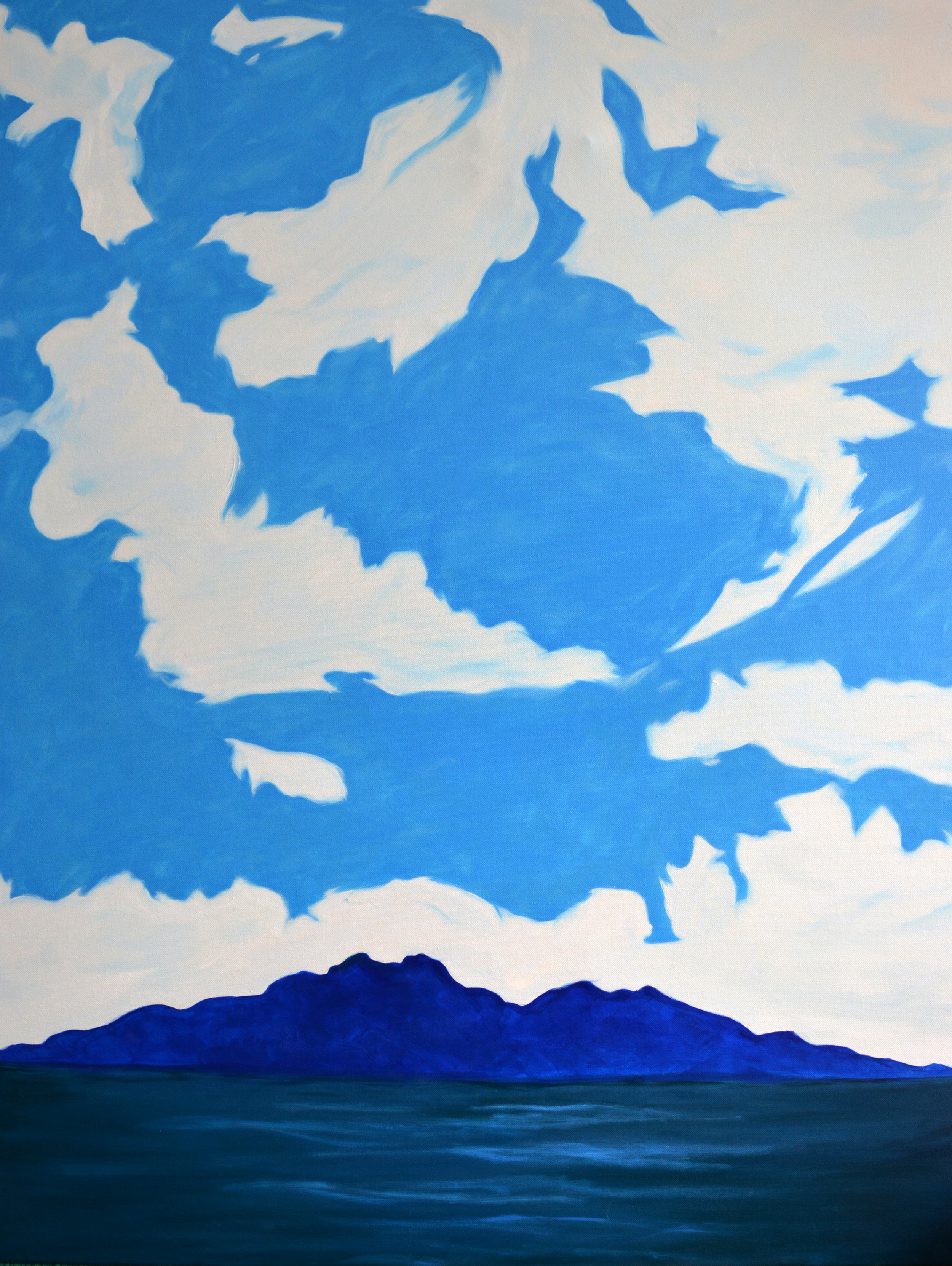 Blue Island 2  48 x 36 inches, oil and acrylic on canvas, 2018