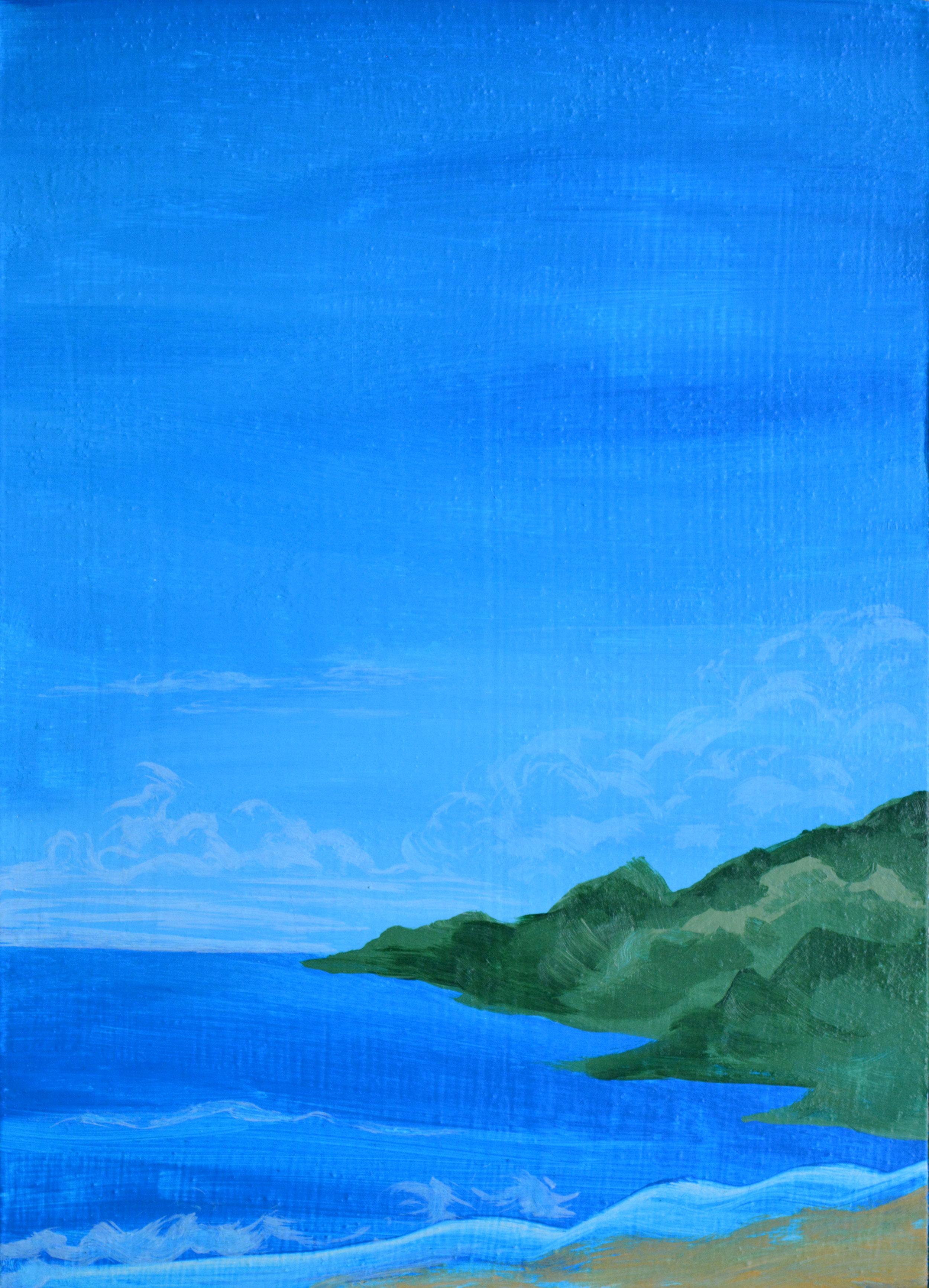 Island 2  4 x 4 inches, acrylic on wood panel, 2018
