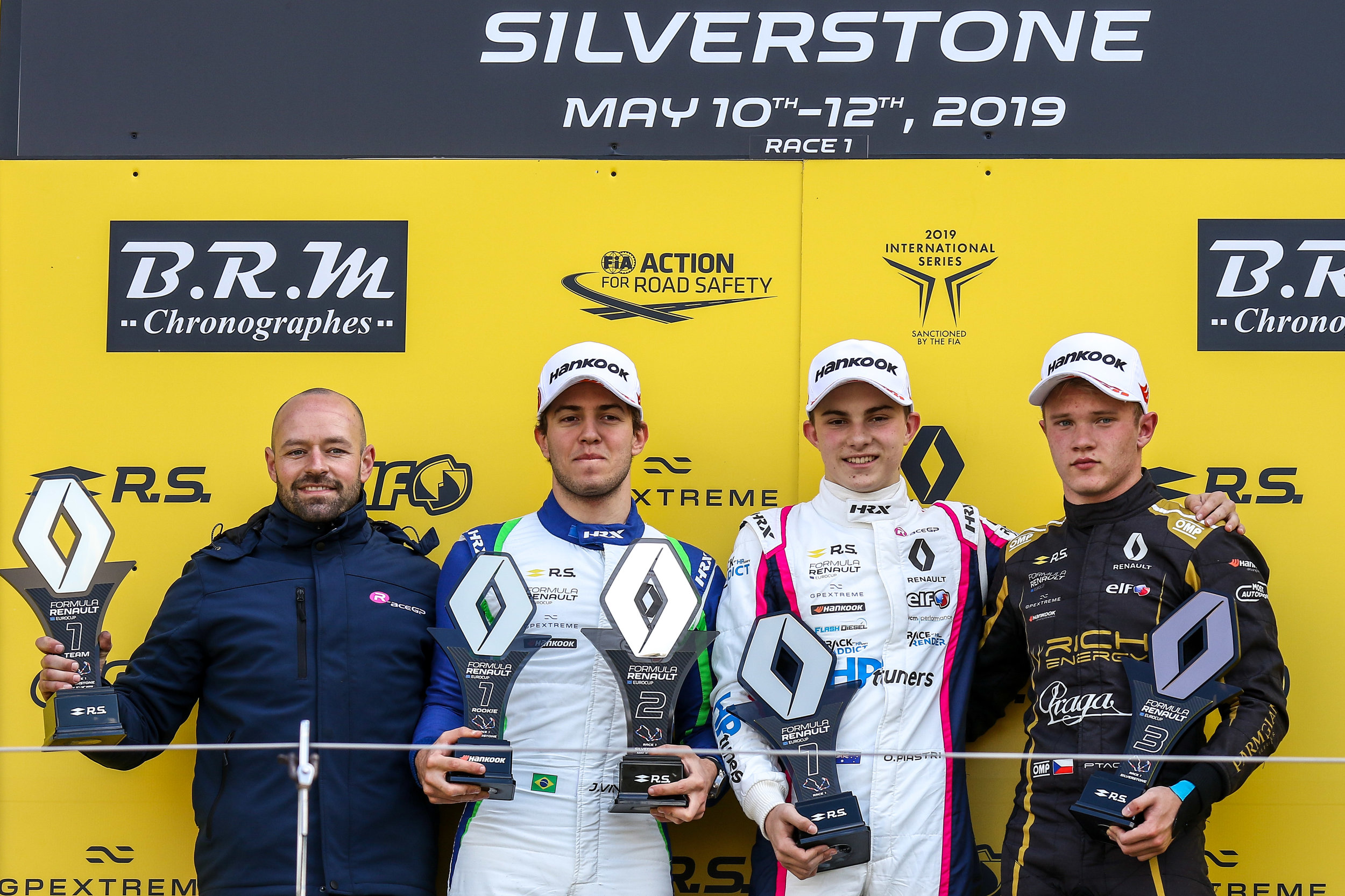 Piastri on the top step of the podium for Round 3