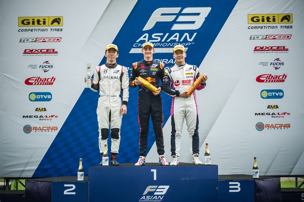 Jack Doohan on the top step of the podium for Race 5.