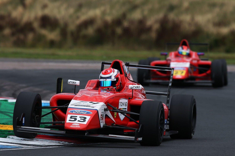 Bart Horsten leads Knockhill test - F4 BRITISH CHAMPIONSHIP
