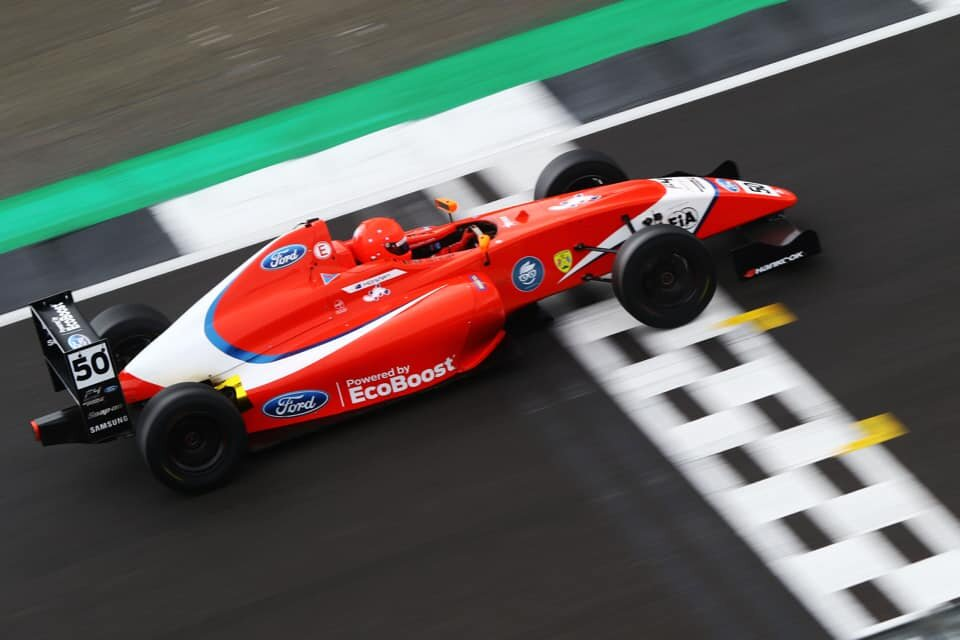 Bart Horsten rounding out the year in fifth - BRITISH FORMULA 4