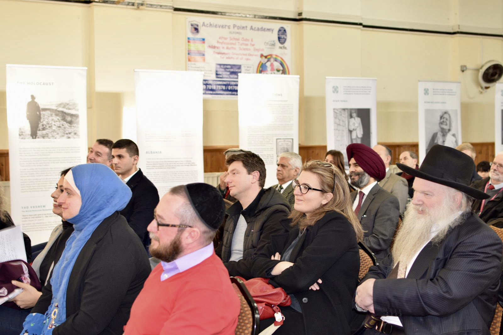 Holocaust remembrance event held in a local Mosque commemorating Albanian Muslims rescuing Jews from Nazis portrayed in an exhibition called Besa - Code of Honour.