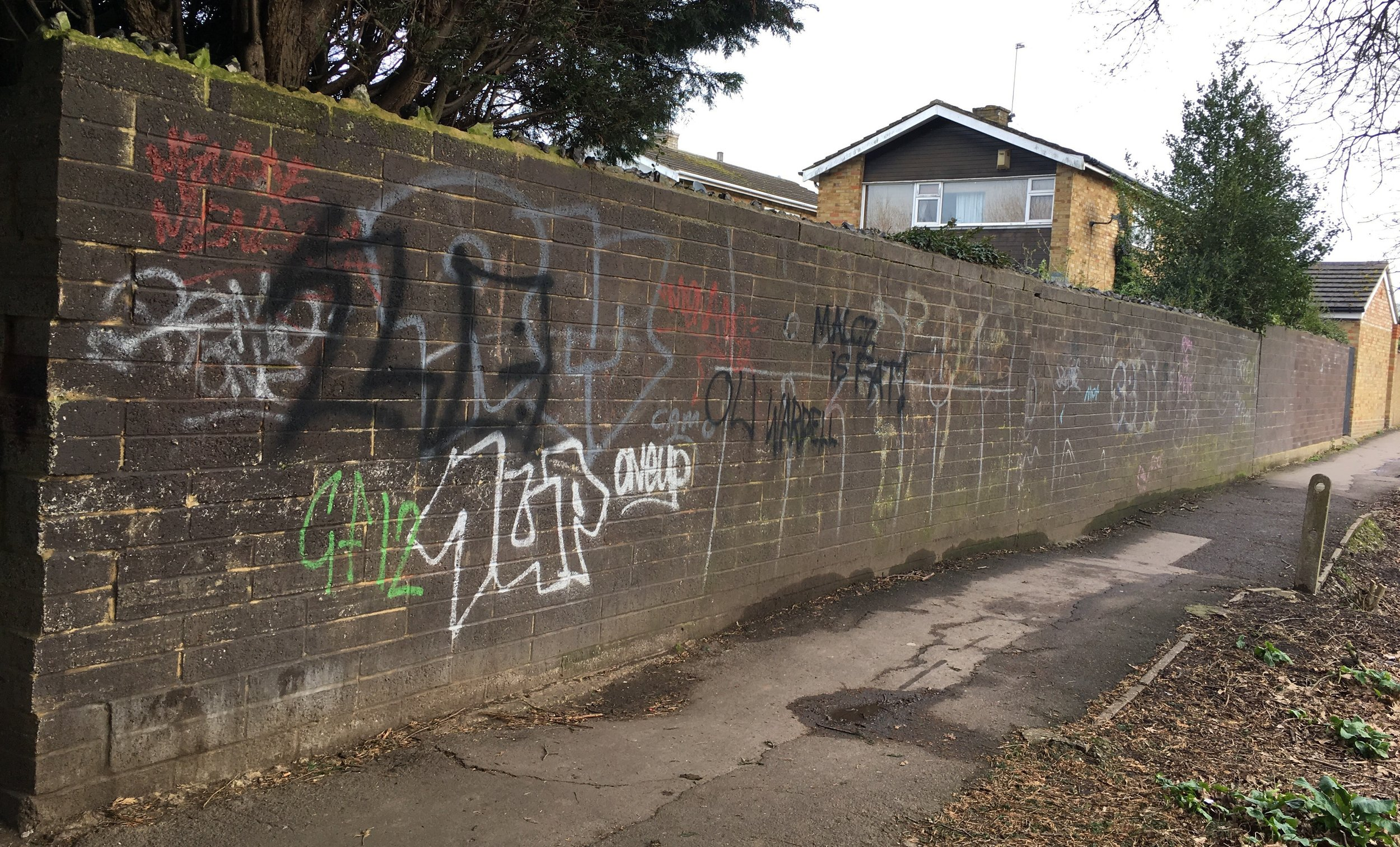 Wall before street art