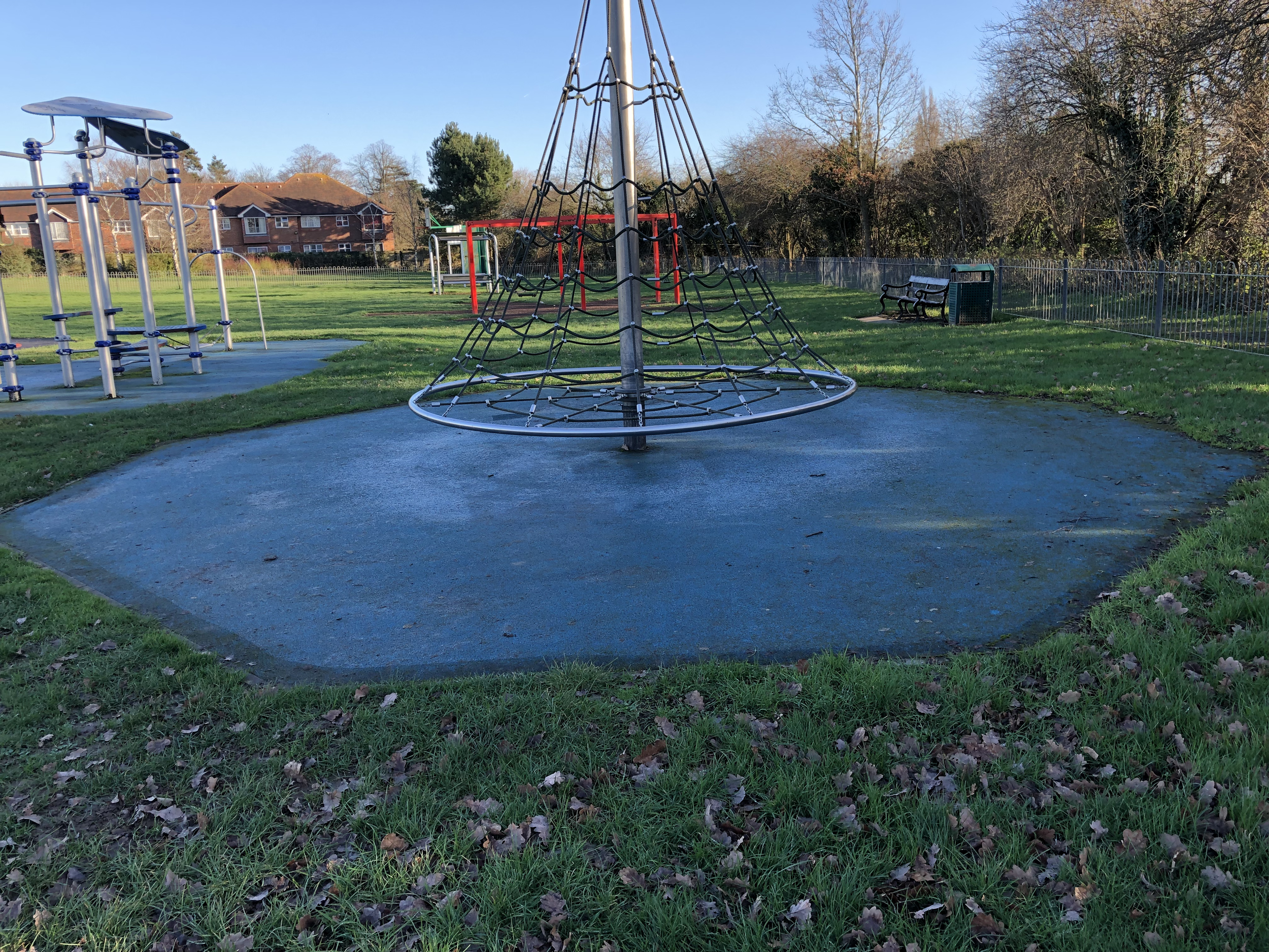 Playground before cleaning