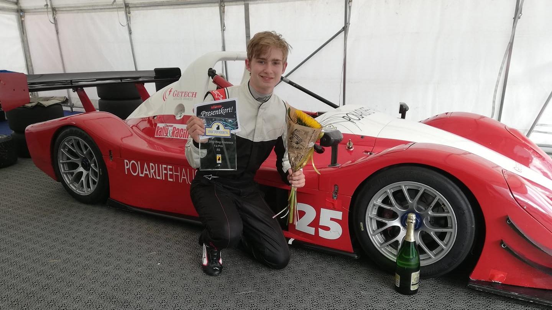 Bild: Rookien Gustav Brandin som kör för Alriksson Motorsport.