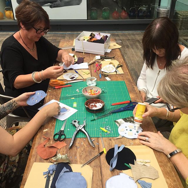 Having fun at our purse workshop! @urbanmakers_uk