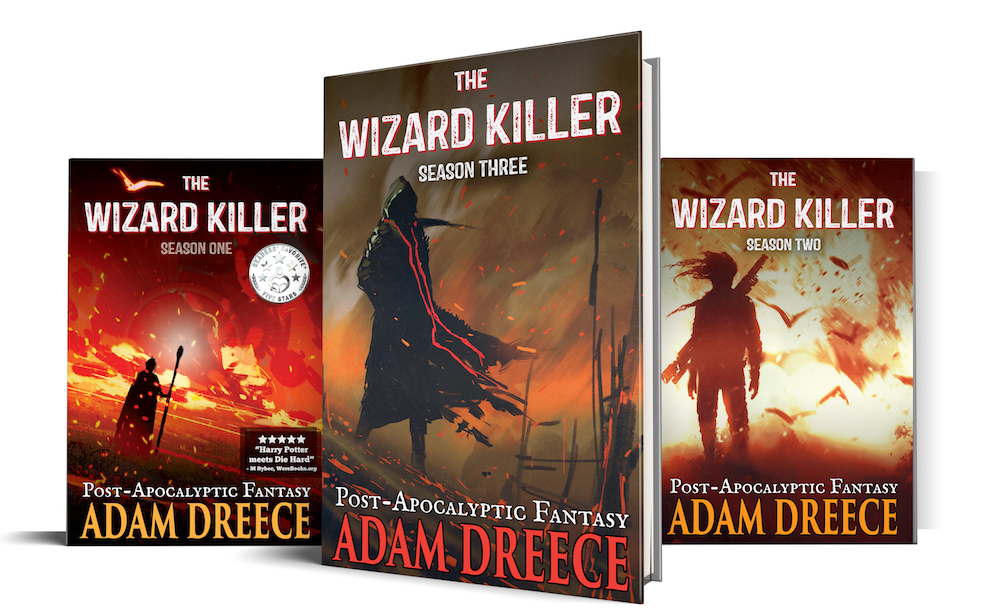 The Wizard Killer - This high-action, post-apocalyptic, dark fantasy tale is written first person and doesn't relent from page one.