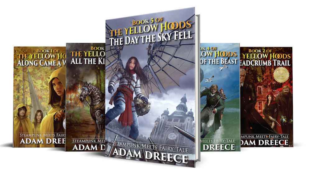 The Yellow Hoods - In a world on the edge of airships and steam engines, where fairy tales are real, we meet Tee, Elly, and Richy who will rise up as heroes and become known as The Yellow Hoods.