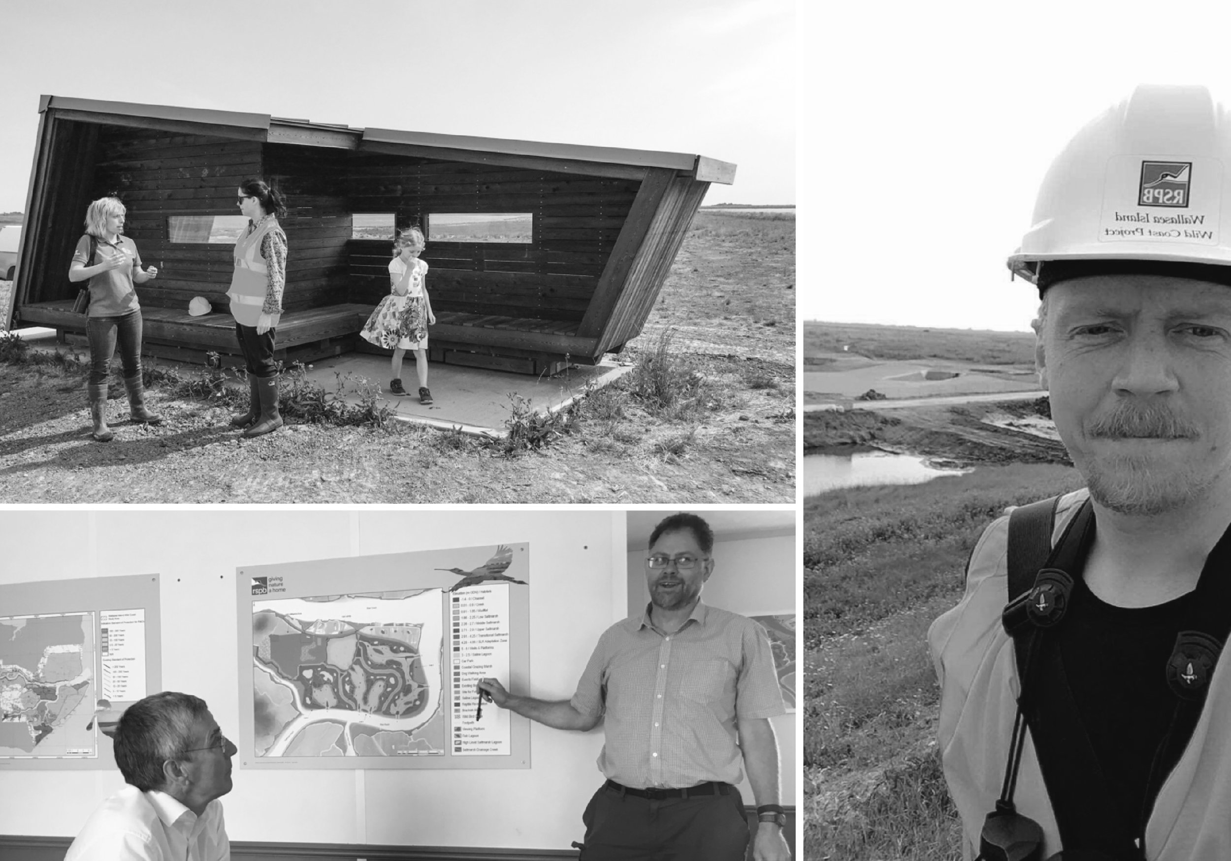 Project meetings and site visits with the RSPB Wallasea team