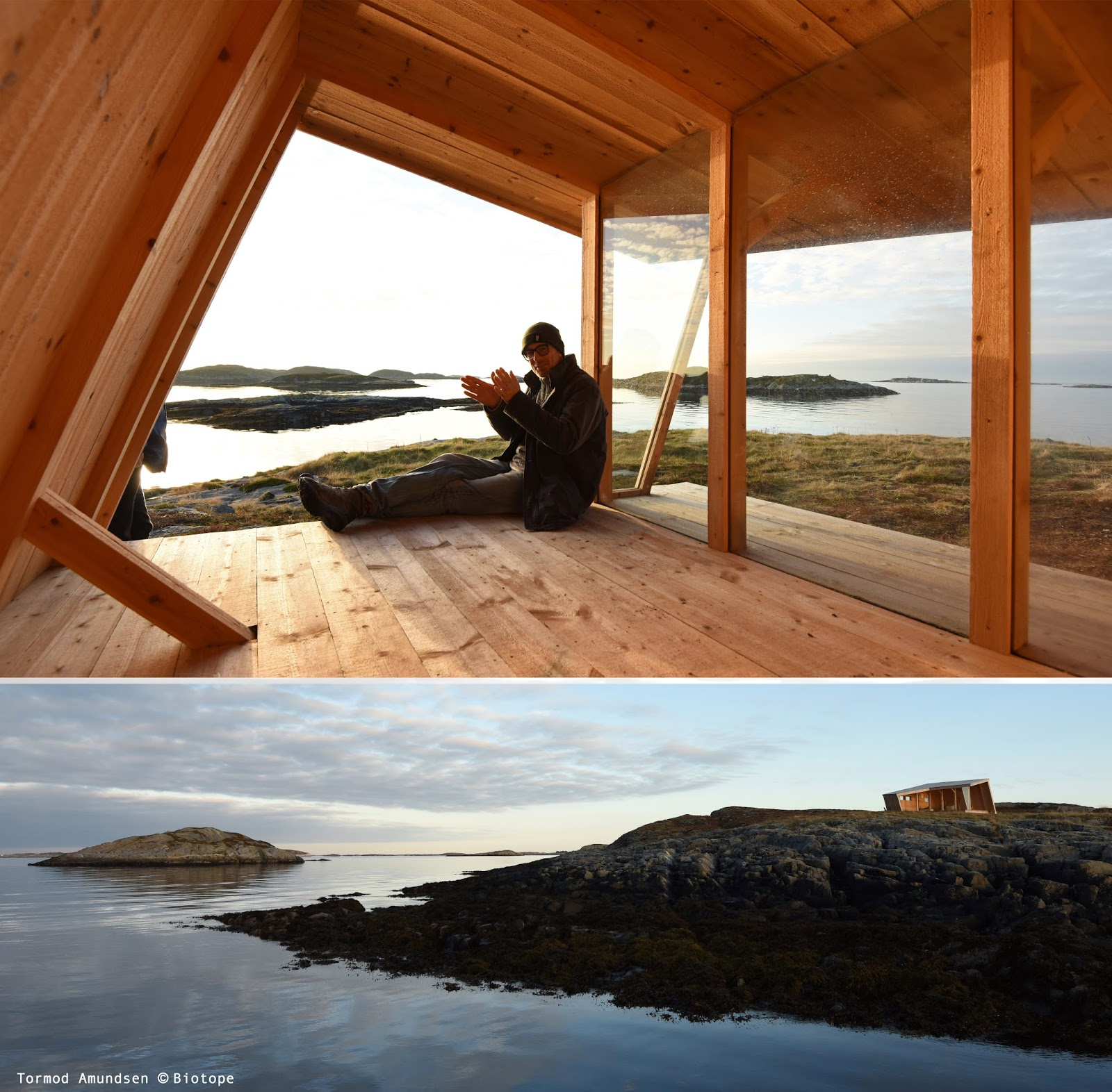 One of several Biotope designed nature shelters built as a result of the initial destination feasability study and destination development plan.