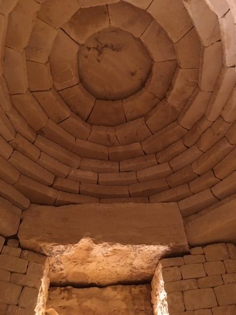 Yew chamber ceiling