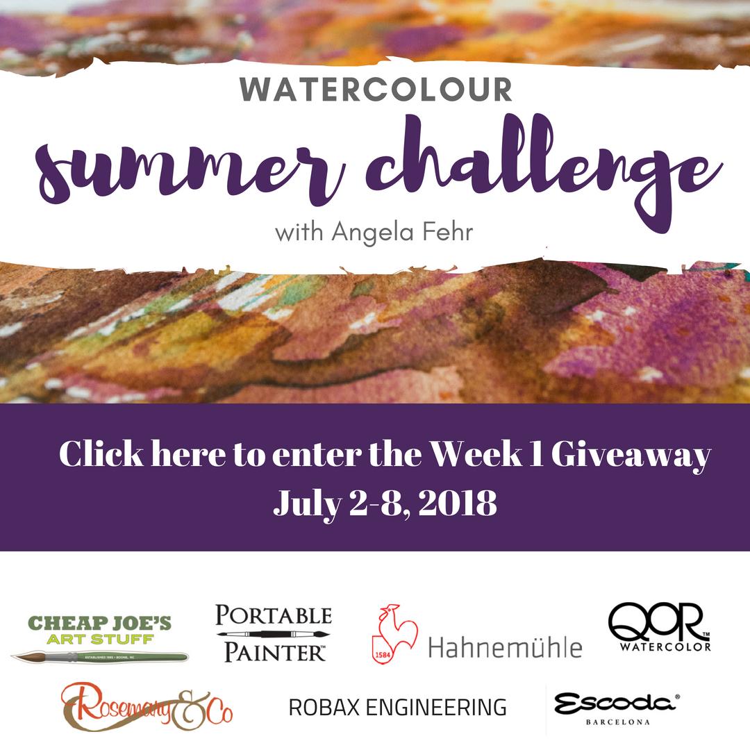 Watercolor Summer Challenge Week 1 Giveaway