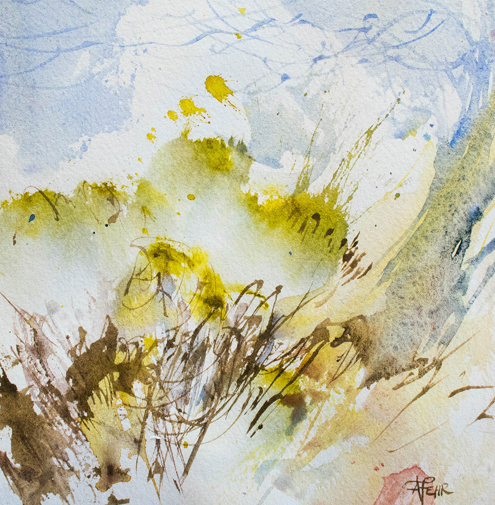 """""""Winds of Spring"""" watercolour on paper, Angela Fehr 2018"""