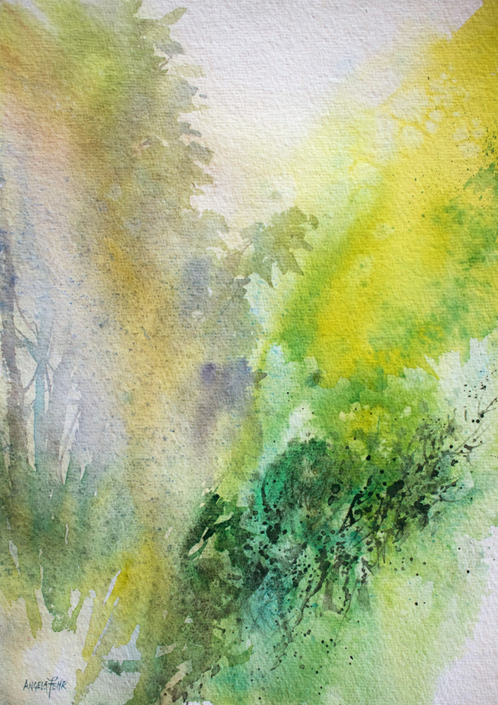 Midsummer Dreams, watercolor by Angela Fehr