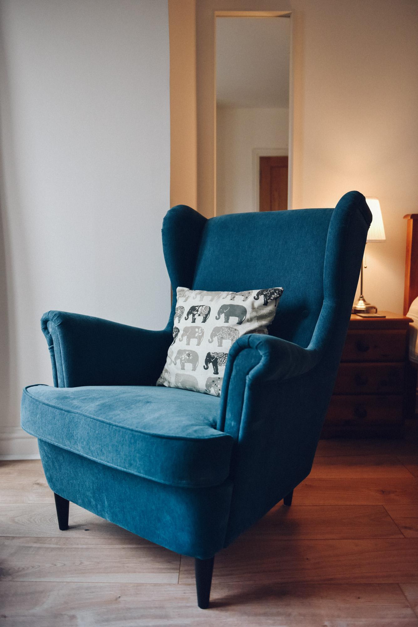 Armchair in bedroom