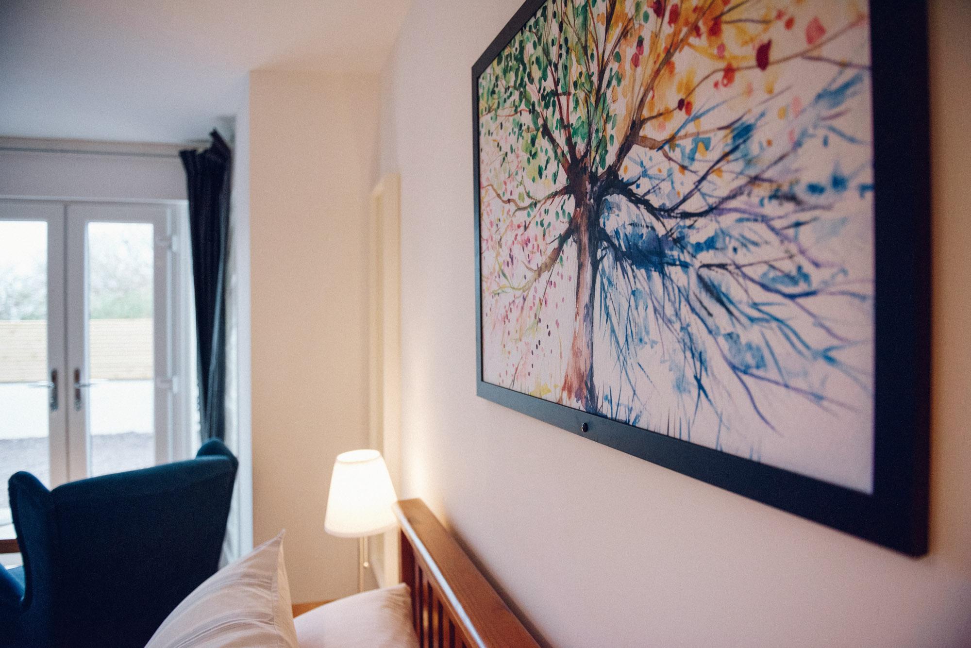 Artwork in bedroom
