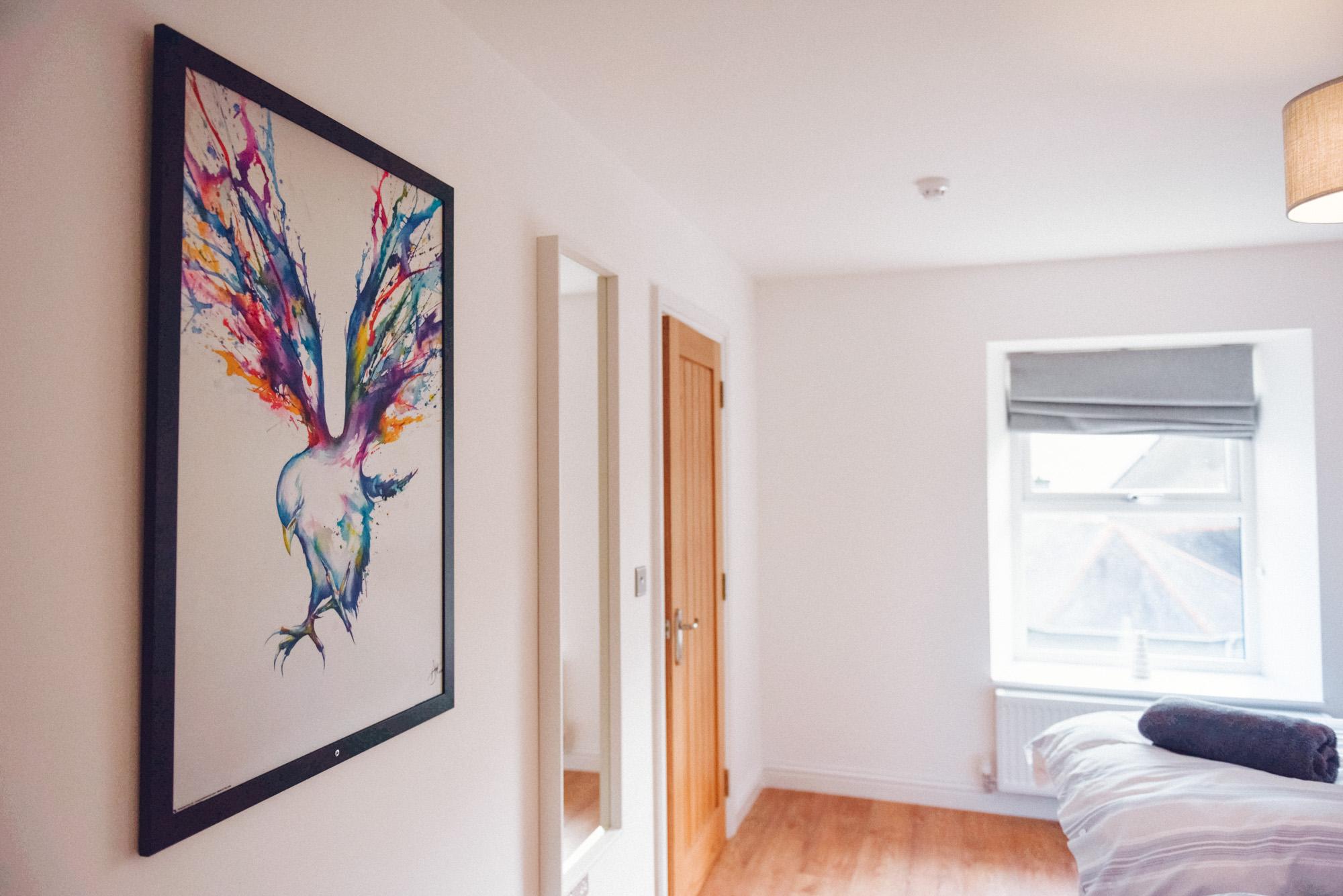 Artwork in Twin Bedroom