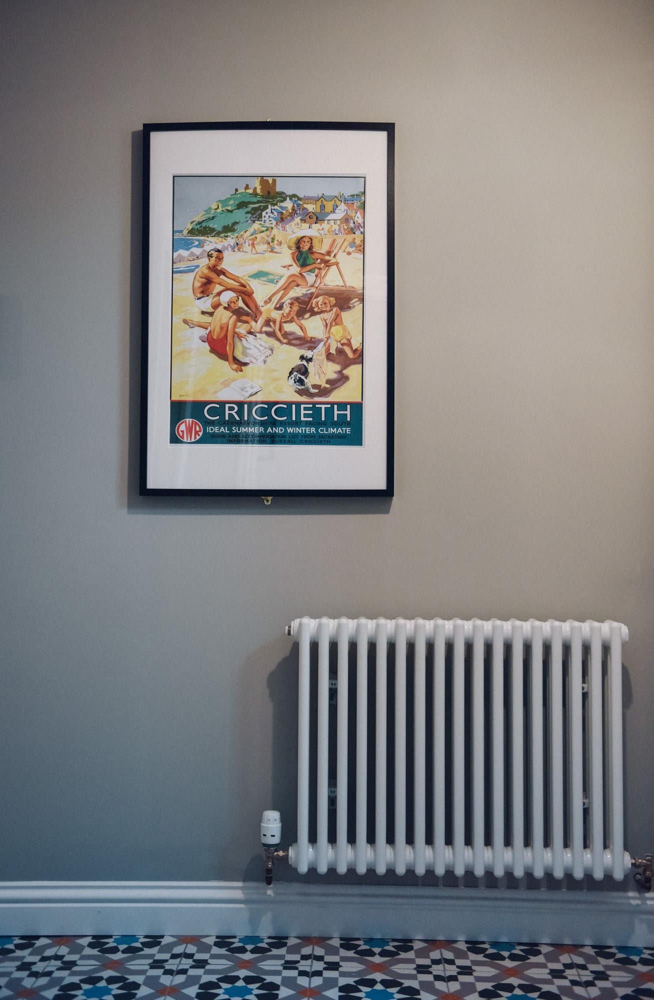 vintage criccieth seaside poster