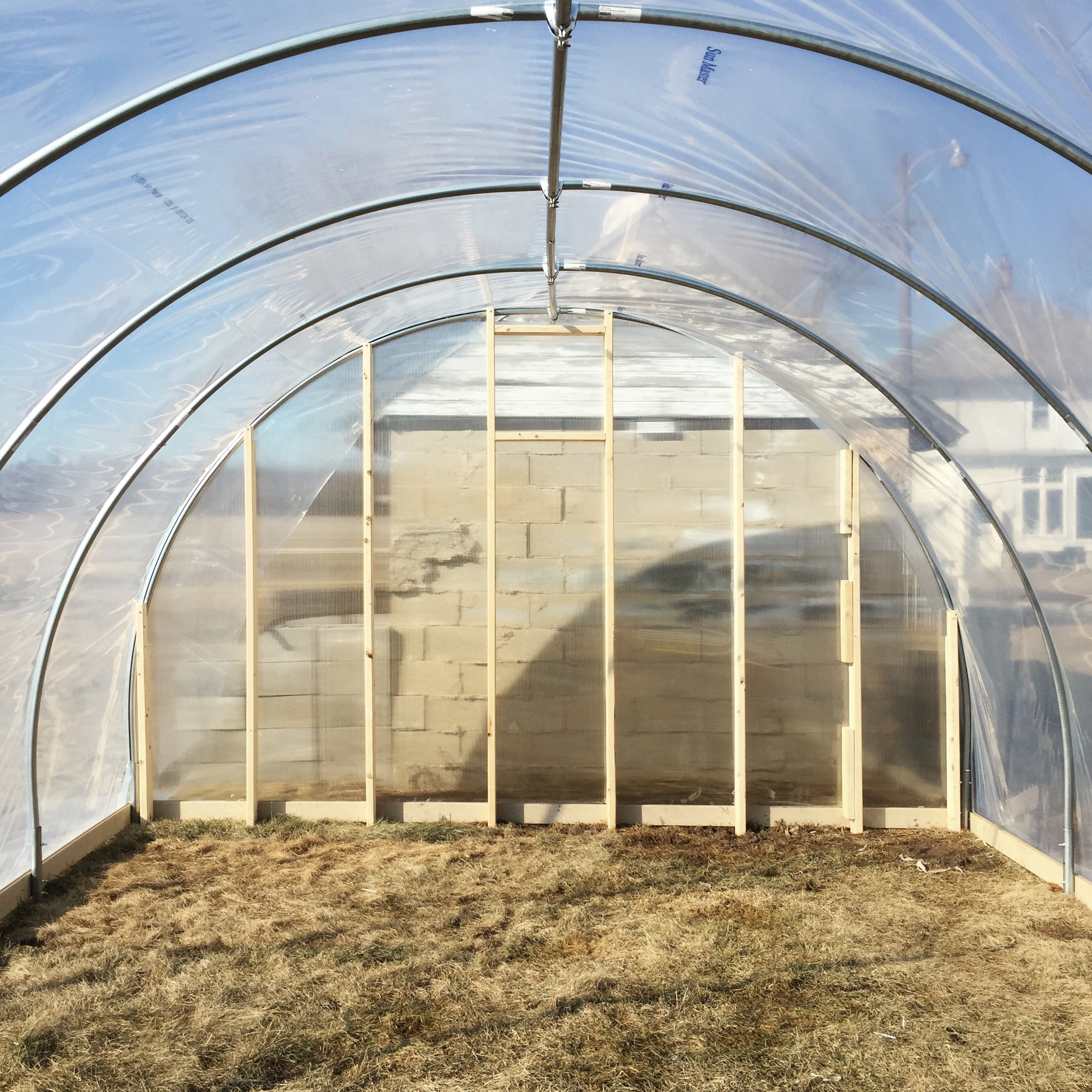 Our basic hoophouse structure.