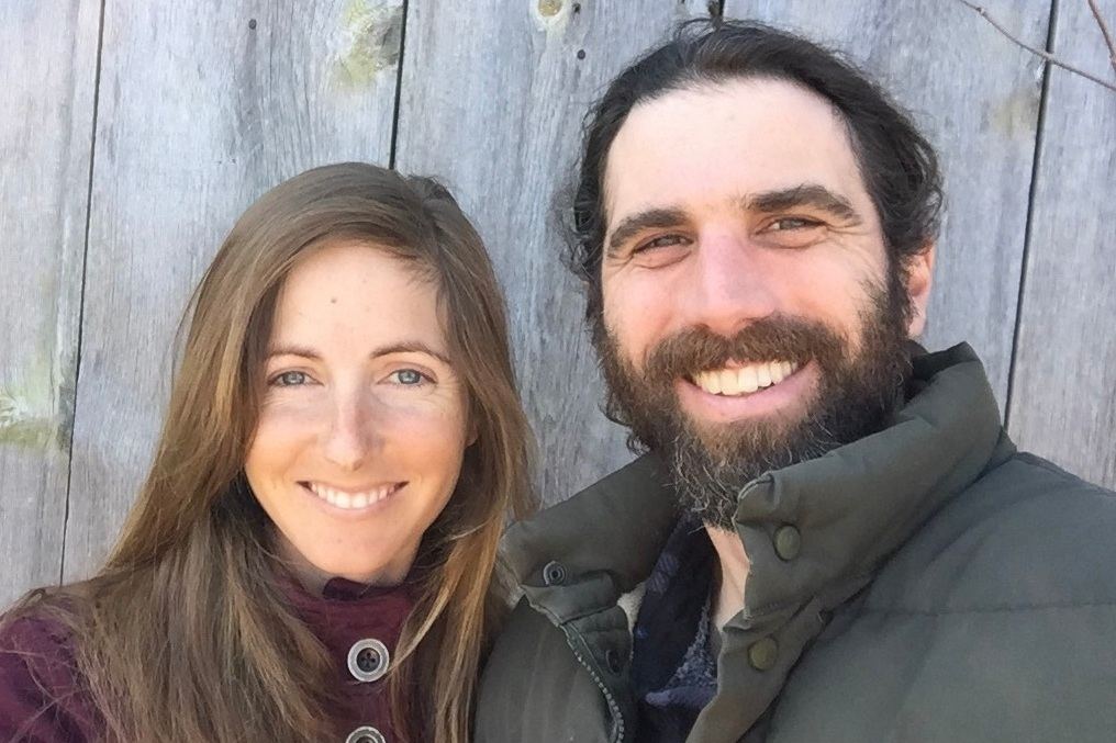 The farmers behind Southpaw Fruit Farm: Abbi Smith and Mark Gallo.