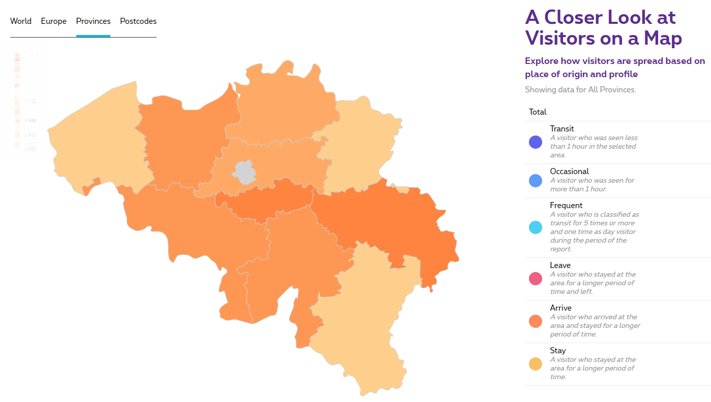 Location Analytics by Proximus