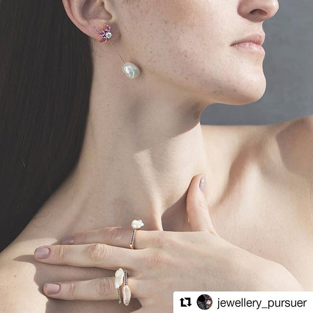 #Repost @jewellery_pursuer (@get_repost) ・・・ Are you set for Valentine's Day? These Diamond studs set with natural #emerald or #sapphire in a variety of colors with a Keshi Pearl at the end by @lynshdesign could be yours.  #finejewelry #fineartphotography #fineart #finejewellery #huatecouture #hautejoaillerie #hautejewelry #gemstones #jewels #jewelleryaddict #jewellerypursuer #gemstonejewelry #lynshdesign #beirut #lebanese #arabworld