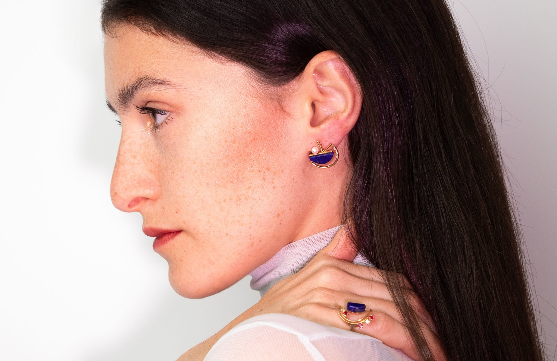 artemis  short earring a modular earring that can be worn in three lengths