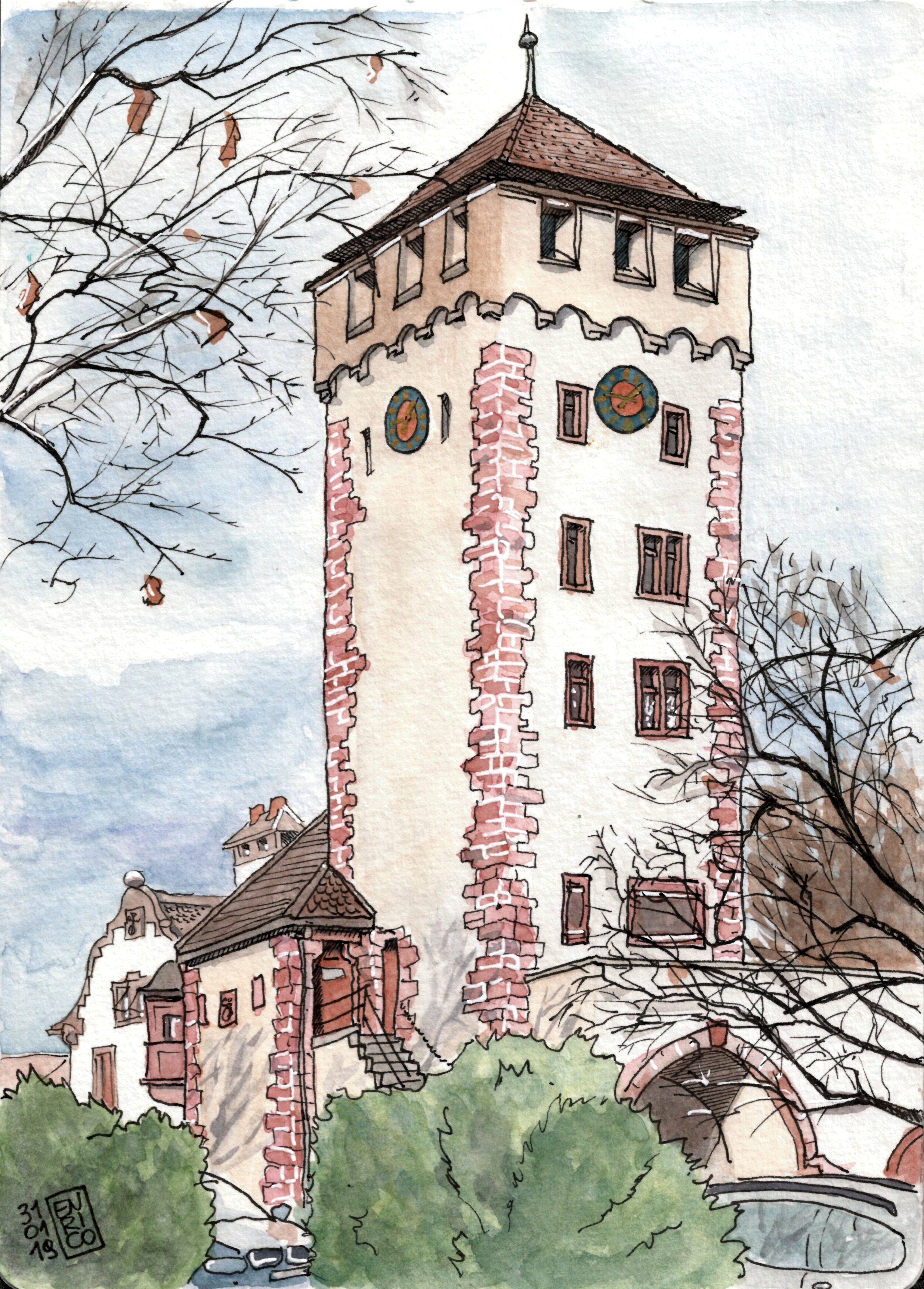 St-Johanns Tower, part of the old city walls
