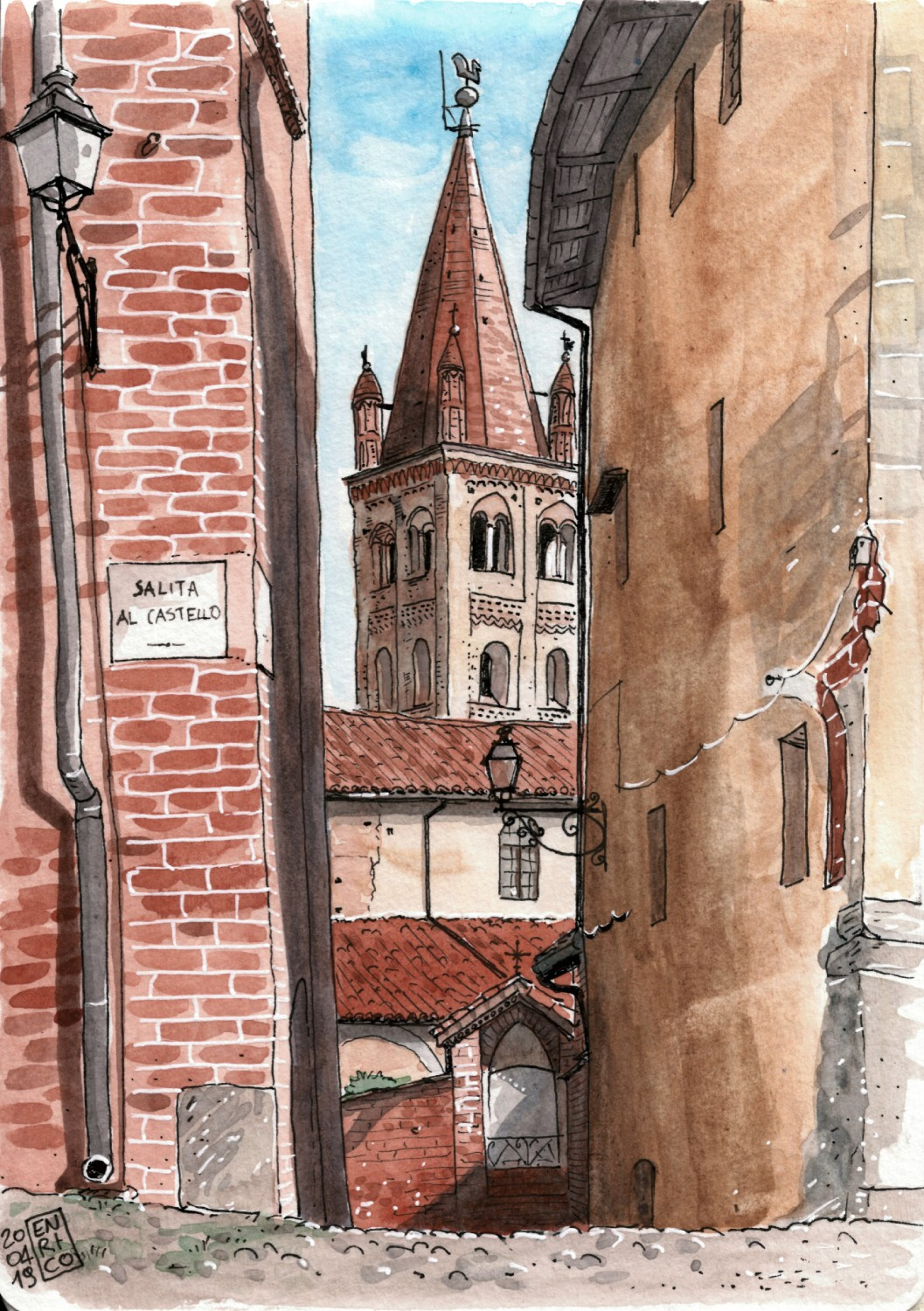 Back in my hometown, Saluzzo, for Eastern. I almost forgot how beautiful the old town on the hill is. This is the narrow passage that leads to S. Giovanni church.