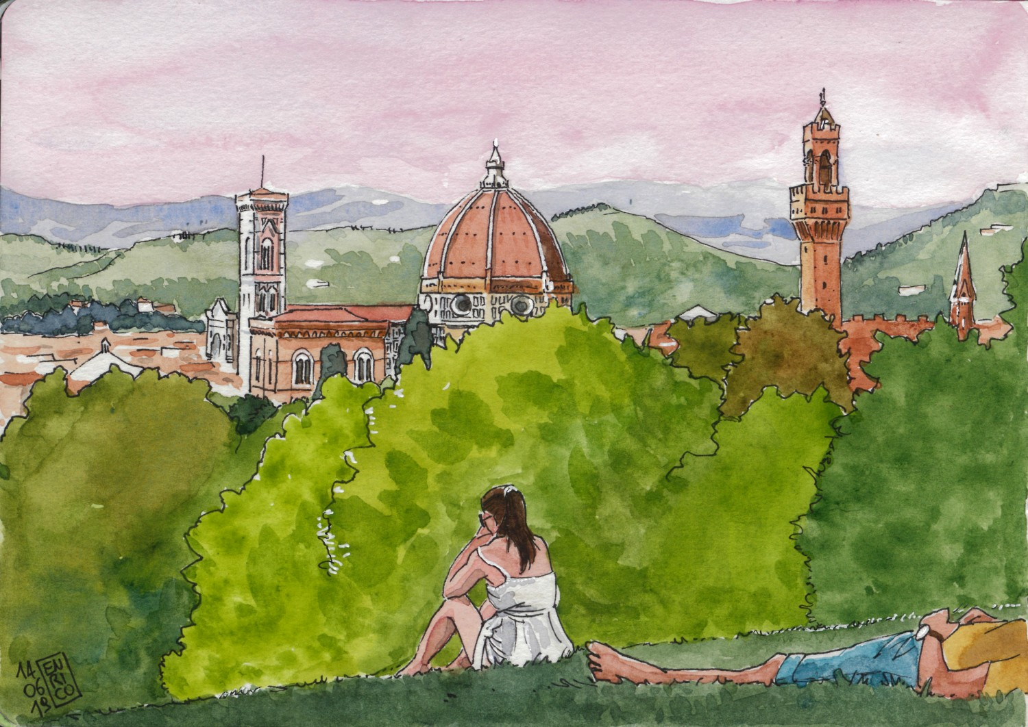 Firenze is truly beautiful, I never visited it before. The day was horridly hot, 38°C, and we went to the Boboli Gardens in search of fresh. The view of the city from there is great.