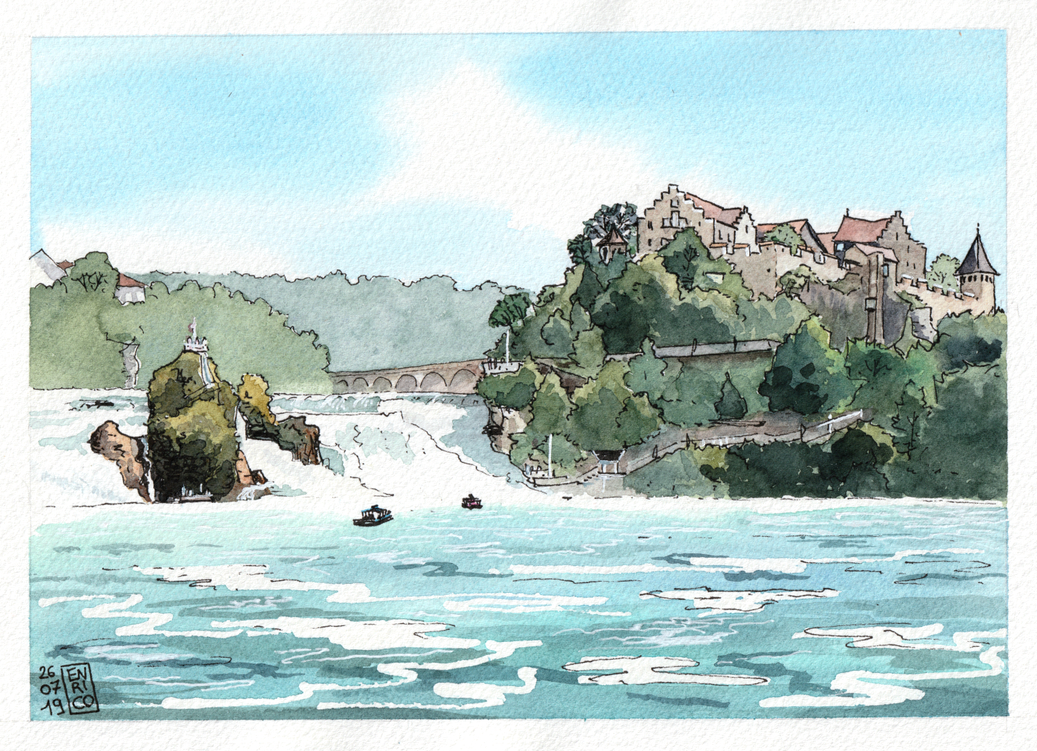 My parents came visit and they wanted to return to Schaffhausen to watch the awesome Rhine falls. This is indeed an amazing place (even if I already visited five times…)