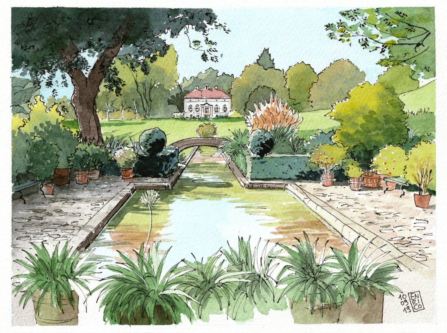I love Merian Garden, especially in sunny mornings, when there is nobody around but the gardeners.